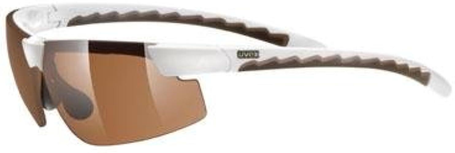 Uvex Lunettes De Soleil Petite Actifs, blanc marron antifog marron
