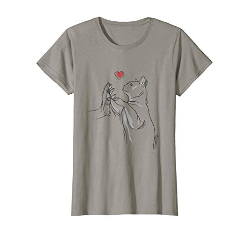 Damen Katze Liebe Geschenk Katzenliebhaber Design High Five T-Shirt