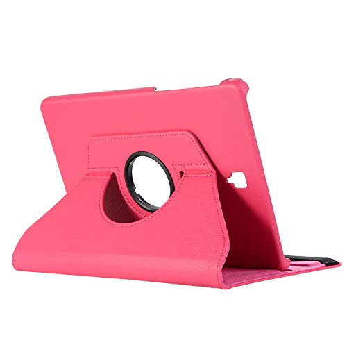 Galaxy Tab S4 10.5 Case,MeiLiio 360 Degree Rotating Stand Case with Auto Sleep/Wake, PU Leather Folio Cover, Lightweight Smart Protector Case for Galaxy Tab S4 10.5 inch (SM-T830/SM-T835) Hot Pink