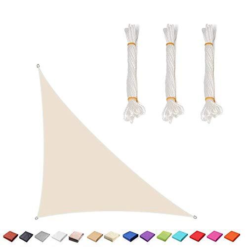BJYX Toldo Vela De Sombra Bloquear UV Transpirable Resistente para Jardín Exteriores,Triángulo Rectángulo,Personalizado,5 * 5 * 7.1M