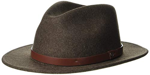 Brixton Unisex-Adult Messer Fedora, Heather Brown, M
