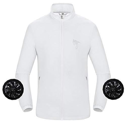APENCHREN Woman's Fan Jacket, Cooling Arbeitskleidung/Klimaanlage Kleidung - für Arbeiten im Freien bei hohen Temperaturen Sommerreisen Camping und Schweißen,D-M