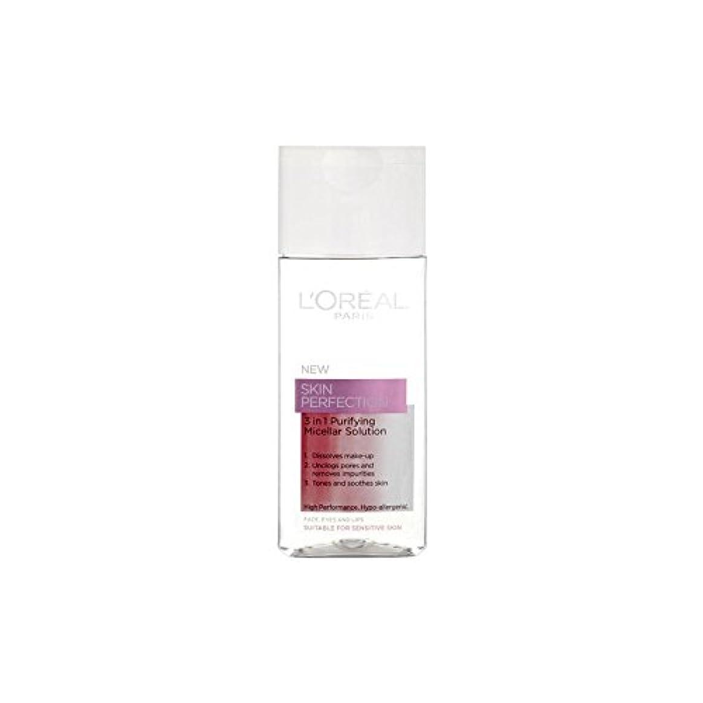 勤勉な半導体メナジェリー1つの精製ミセル溶液中ロレアルパリ?ダーモ専門知識の皮膚完璧3(200ミリリットル) x2 - L'Oreal Paris Dermo Expertise Skin Perfection 3 In 1 Purifying Micellar Solution (200ml) (Pack of 2) [並行輸入品]