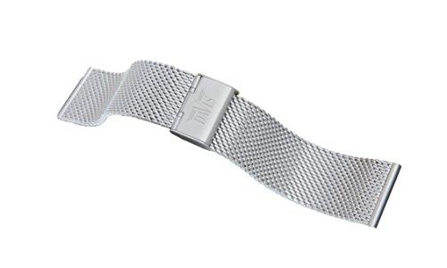 Davis B0810 - Armband Uhr Mesh Stahl Milanaise 22mm Verstellbarer