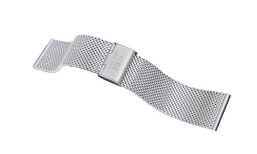 Davis - Cinturino Orologio Mesh Maglia Milanese Acciaio Regolabile 20-22-24mm (20mm)