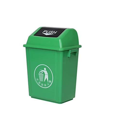 Trash Cans AOYANQI-Poubelles en Plein air Recyclage Bins, Grande capacité Rectangle Épaississement Refuse Bin Centre Commercial Place Publique Compostage extérieur Bins intérieure/extérieur