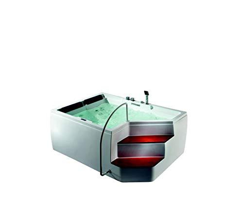 2 Pers Whirlpool Rockford Eckbadewanne 175x120 Vollausstattung & Treppe *UVP 4.290,- € Sonderpreis