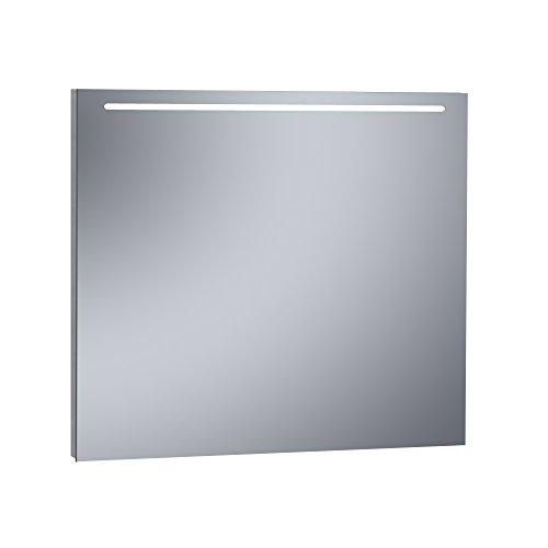 Kristaled Eco 100x80 cm Espejo de Baño Estriado con Luz Led Frontal, Cristal, Plateado, 100x80x2.5 cm
