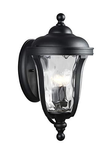 Sea Gull Lighting 8714203-12 Perrywood Large Three Light Outdoor Wall Lantern Outside Fixture, Black