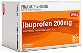 Pharmacy Action Ibuprofen 200mg 96 Tabs (Generic for Nurofen)