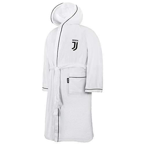 Juventus 9634 020 2131 Accappatoio, 100% Cotone, Bianco, 25 x 20 x 5 cm
