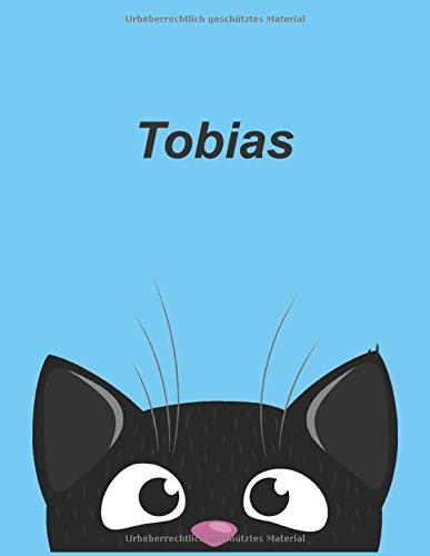 Personalisiertes Notizbuch: Tobias - über 100 Seiten, liniert im A4+ Format