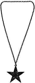 Town Of Trinkets Black Star Long Link Chain Necklaces, Classical Five Point Stars Pendant Necklace For Women Belly Chains