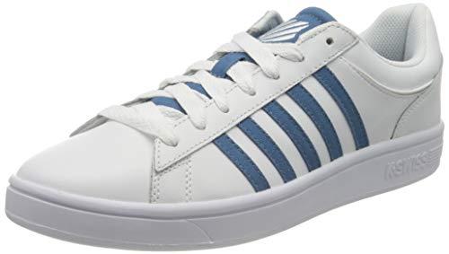 K-Swiss Herren Court Winston Sneaker, Weiß (White/Blue Heaven 140), 40 EU