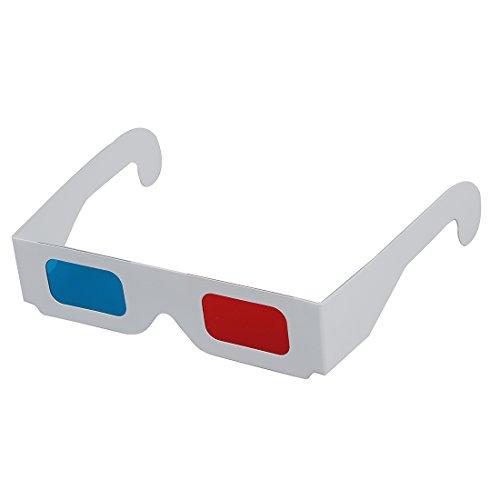 Cikuso 100 Pares de Rojo/Cian (Azul) anaglifo 3D Gafas 3D Dimensional
