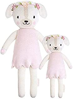 """CUDDLE + KIND Charlotte The Dog Little 13"""" Hand-Knit Doll – 1 Doll = 10 Meals, Fair Trade, Heirloom Quality, Handcrafted i..."""