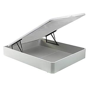 PIKOLIN, canapé abatible Gran Capacidad de almacenaje Color Blanco 150x190, Servicio de Entrega Premium Incluido