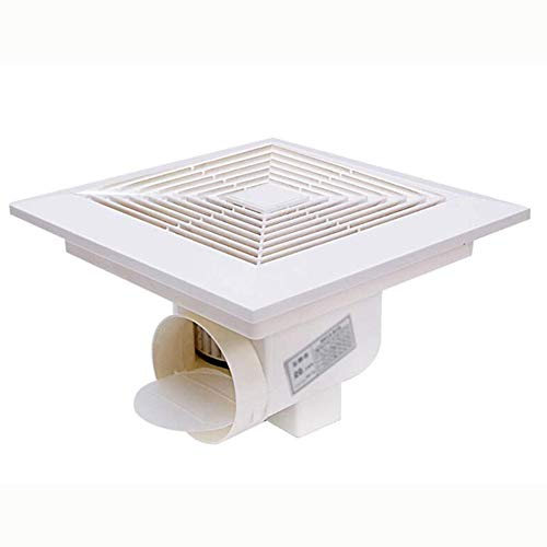 Dongbin Badventilator Nachlauf Badlüfter Lüfter Wand-Ventilator, Kugellager Mega Silent Standard,Weiß,24 * 24cm