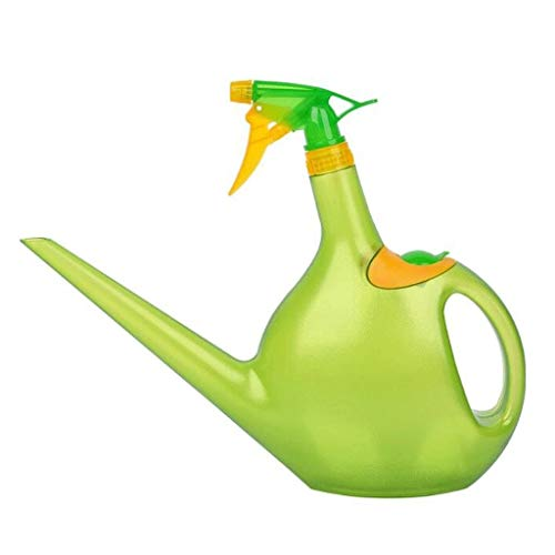 Regadera de Jardin Pequeño riego Caldera de 1,3 litros Regadera de mano de activación aerosol de agua de la botella de plástico Pot Una boquilla de riego de plástico Hervidor jardinería riego de la fl