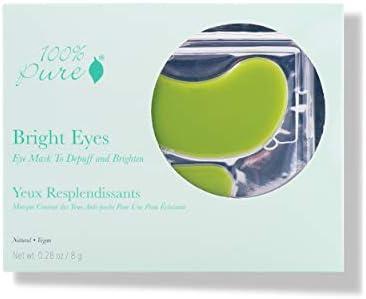 100 PURE Bright Eyes Mask 5 Pack De Puffing Under Eye Patches Diminish Dark Circles Vegan Undereye product image