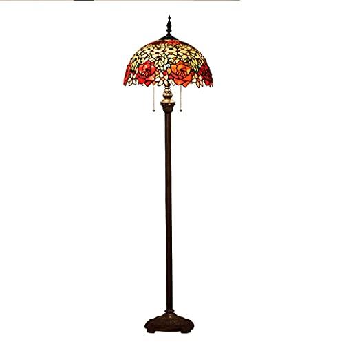 xinxinchaoshi Lámpara de pie Lámpara de pie de Lectura Lámpara manchada Antigua Iluminación Ajustable Lámparas de la Serie de la Base Lámpara de Pie Moderna