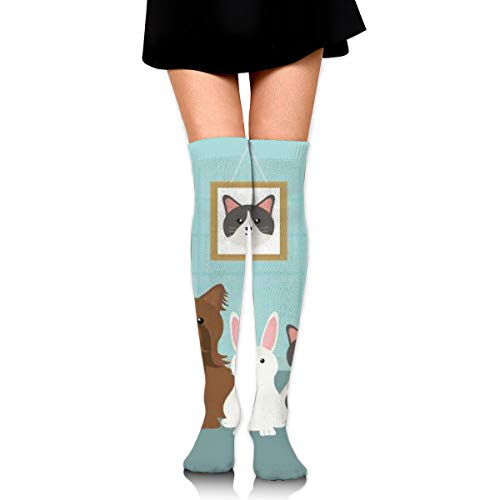 Group Of Mascots Characters Women's Over Knee Thigh Socks Girl High Stockings 65 Cm/25.6In