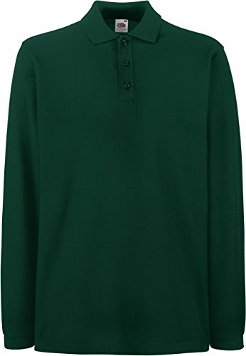 Fruit of the Loom - Premium Longsleeve Polo - Modell 2013 / Forest Green, XL XL,Forest Green