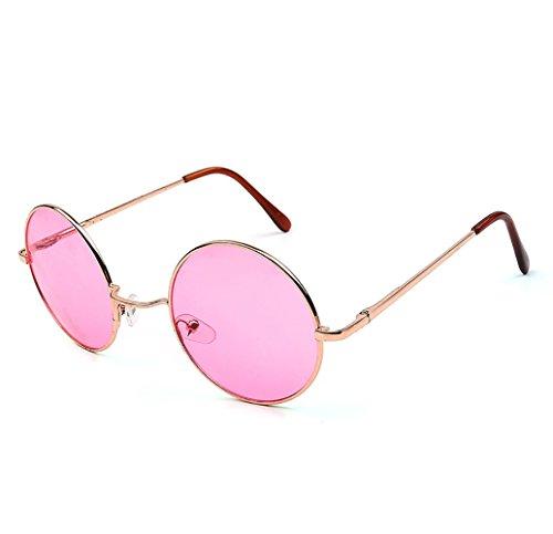 Topgrowth Gafas de sol para hombre y mujer de una plaza redonda Annata con efecto espejo