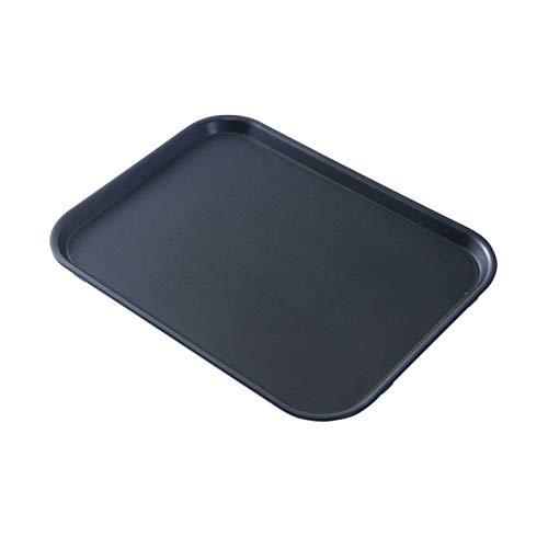 Bandeja de Gastro Rectangular, con Revestimiento Antideslizante Borde Alto Bandeja de Camarero Bandeja de Gastro de Camarero-51.5x38x2.5cm(20x15x1inch)-B