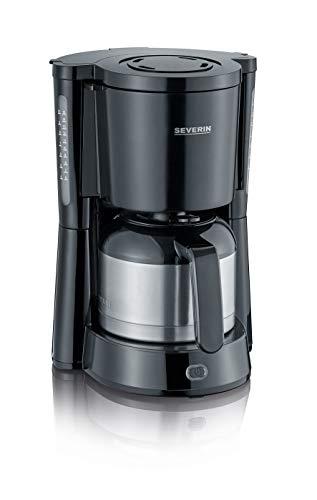 SEVERIN KA 4835 Type Kaffeemaschine (Für gemahlenen Filterkaffee, 8 Tassen, Inkl. Thermokanne) schwarz
