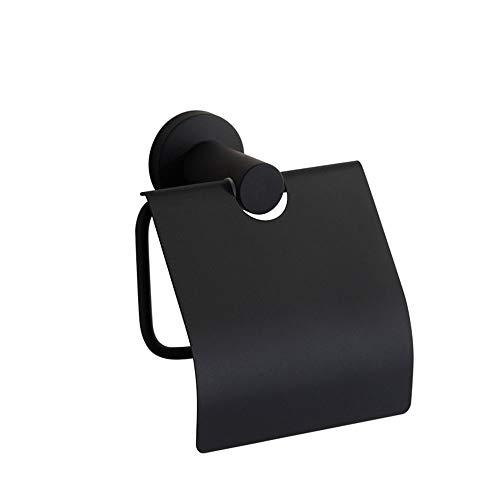 ETH American Simple Black Roestvrij Staal Toiletpapier Houder Maat 13cm*7cm*5cm Verstevigd Duurzaam Toiletpapier Duurzaam