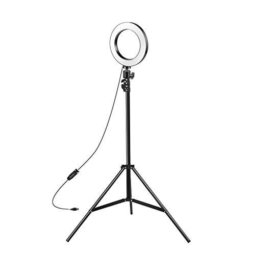 Hey Caterpillar LED-Ringlicht 15,2 cm Selfie-Ringlicht mit Stativ für Live-Streaming, Make-up, Selfie/Online-Klasse