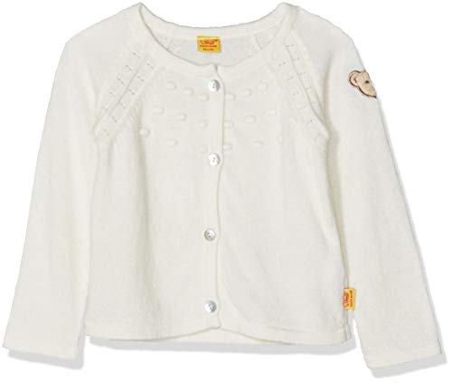 Steiff Baby-Mädchen 1/1 Arm Strickjacke, Weiß (Cloud Dancer|White 1610), 80