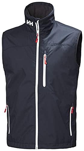 Helly Hansen Crew Vest Chaleco Forro Polar Interior para Hombres, Impermeable y diseñado para Cualquier Actividad Casual o Deportiva, Azul Marino, L