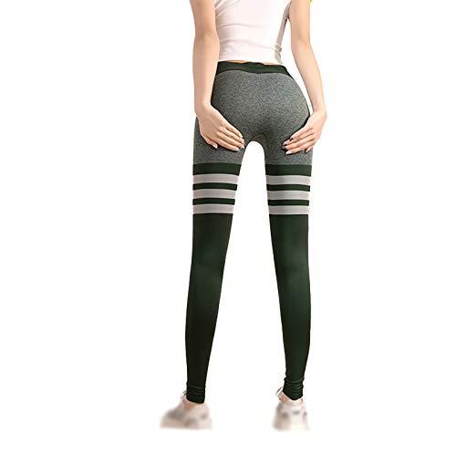 Pantalones de fitness de levantamiento de cadera para mujer, de secado rápido, de alta cintura, pantalones deportivos, pantalones de yoga, verde y M