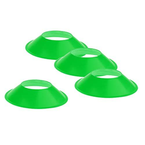 NON Juego de 4 Disco de Placa para Entrenamiento de Agilidad, Obstáculo de Campo de Fútbol Hecho de PE de Calidad - Verde