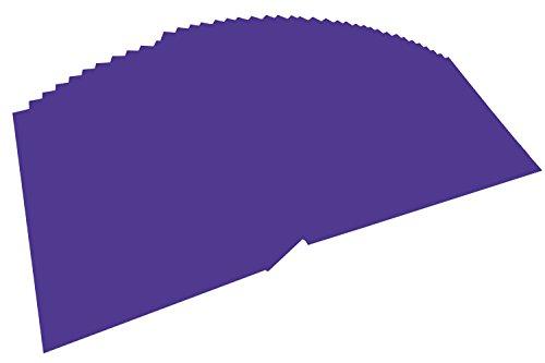 folia 614/50 32 - Fotokarton DIN A4, 300 g/qm, 50 Blatt, dunkelviolett - zum Basteln und kreativen Gestalten von Karten, Fensterbildern und für Scrapbooking