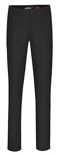Robell Damen Slim Arbeitshose-Stretchhose, Black, Gr.- 38
