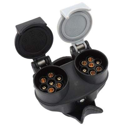 ExcLent 12V Voiture remorque Camion 13 Broches à 7 Broches Prise N/S Type Adaptateur Convertisseur - Noir