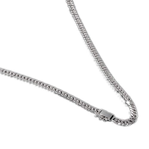 [ルビイ] プラチナ Pt850 6面カットダブル喜平 チェーン ネックレス 幅5.2mm 長さ45cm