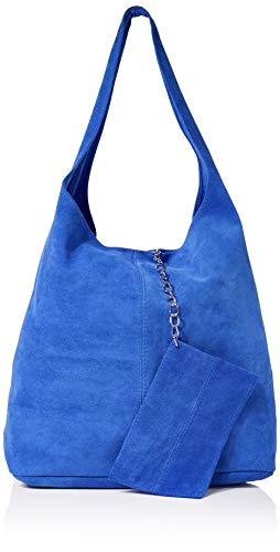 Joe Browns Women's Bella Boho Suede Bag with Purse Tote, Blue, One Size 32 x43cm Large