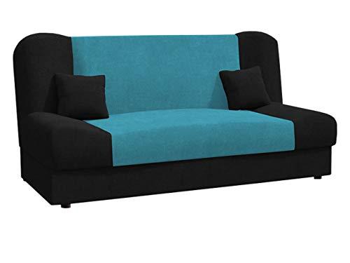 Schlafsofa Jonas Style, Sofa mit Bettkasten und Schlaffunktion, Bettsofa, Schlafcouch, Microfaser, Couch vom Hersteller, Wohnlandschaft (Alova 04 + Alova 29)