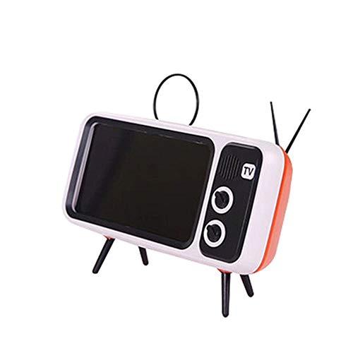 Suporte de mesa para celular criativo tv Laranja
