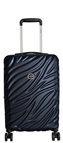 Delsey Alexis Lightweight Luggage Set 3 Piece, Double Wheel Hardshell Suitcases, Expandable Spinner Suitcase with TSA Lock and Carry On (Navy, Carry-on)