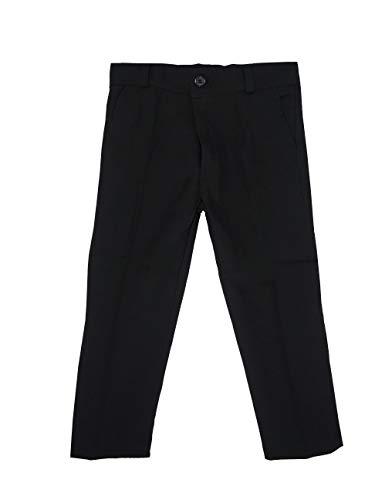 Black & White Single: Jungen Hose. Schwarze Anzughose (Größe 92 bis 164), Schwarz, 2 Jahre / Größe 98