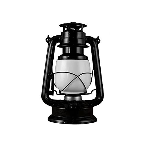 ALEOHALTER Linterna LED, linterna vintage, luz colgante con 2 modos de luces, botón de interruptor, cable de carga USB, para lámpara exterior e interior (negro, tamaño: 24 cm)