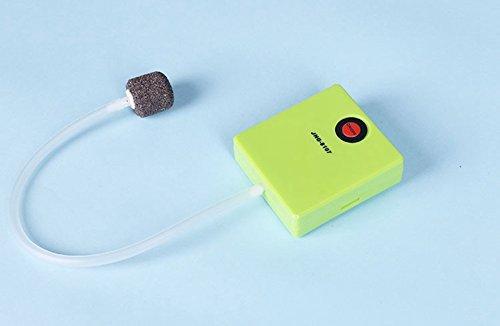 Generic Mini Einfach Aquarium Fisch Tank Akku Air Pumpe Outdoor Angeln oder Sauerstoff Pumpe Luftsprudler grün S
