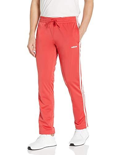 adidas Essentials Tricot Pant Open Hem Pantaloni, Rosso Glory/Bianco, L Donna