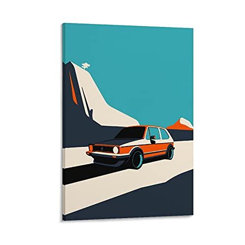 JUEDIN Cuadro de lienzo para pared de coche, 40 x 60 cm