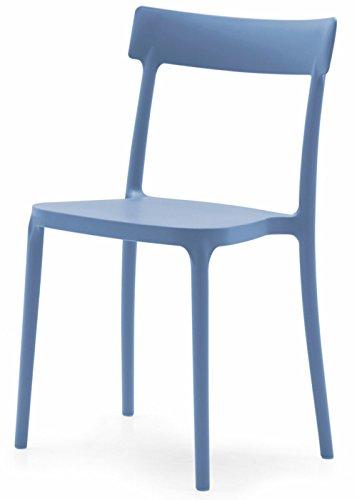 Connubia Calligaris Set 2 sedie Argo Blue Sky